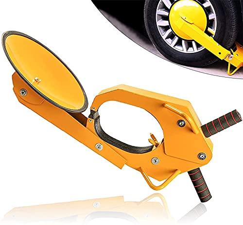 Cerradura De La Rueda Abrazadera Ajustable Neumático Bloqueo De Arranque Abrazadera Anti-Robo Bota Neumático Aparcamiento Estacionamiento Bloqueo De Arranque Para Automóvil, Camión, UTV, ATV Aparcamie