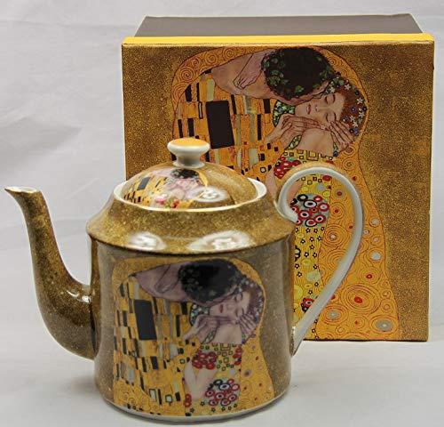 Atelier Harmony Klimt - Teiera 'Il bacio', 1 litro, in confezione regalo