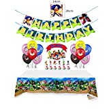 Sonic the Hedgehog Balloons Birthday Party Decorations, Happy Birthday Banner Foil Balloon for Kids Baby Shower Birthday Party Suppliers