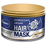 StBotanica Moroccan Argan Hair Mask - 300ml - Hair Spa, 100% Organic Argan Oil with Vitamin B5 & E, Repairs Dry, Damaged Hair, Sulfate Free