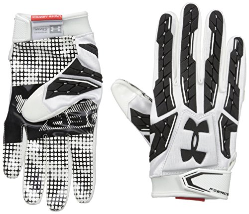 Under Armour Men's Fierce VI Football Gloves, White/Black, Large