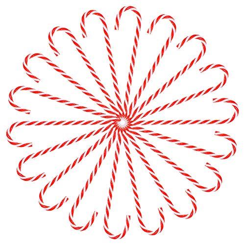 Canna di caramella Ornamento per dell'albero di Natale,24 pezzi Natale plastica Ornamento appeso Decorazioni per albero di Natale per vacanze di Natale Capodanno Decorazioni, 15 cm Lunghezza Style-1