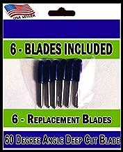 Bridge Cutters Deep Cut Replacement Blades for cutting machines compatible with Bridge Cricut Air Expression 2 Explore Maker Refine cutters, 6 blades