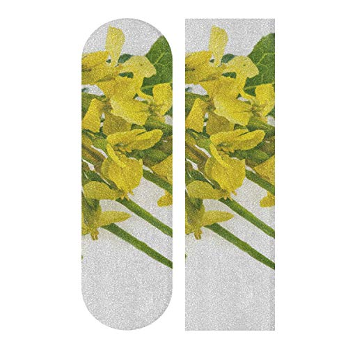 N\A 33,1 x 9,1 Zoll Sport Outdoor Funny Skateboard Grip Tape Buntes Rape Flower Road Print Wasserdichtes farbiges Skateboard Grip Tape für Dancing Board Double Rocker Board Deck 1 Blatt