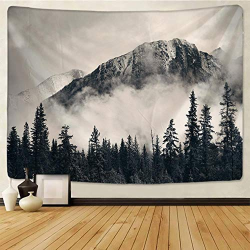 Mountains Psychedelic Tapestry Starry Sky Wall Hanging Star Stars Leaf Village Dorm Decor Blanket 130Cm Woven Personalized