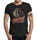 LOBO NEGRO Original Design T-Shirt fr den aktiven Dart-Spieler: Dart Devil - Score 180-L