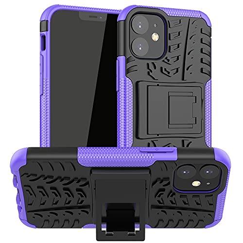 JIAHENG Caja del teléfono Estuche Protector para iPhone 12 Mini, TPU + PC Bumper Híbrido Híbrido Funda Robusta, Caja de teléfono a Prueba de Golpes con pienstero Cubierta de Cuero