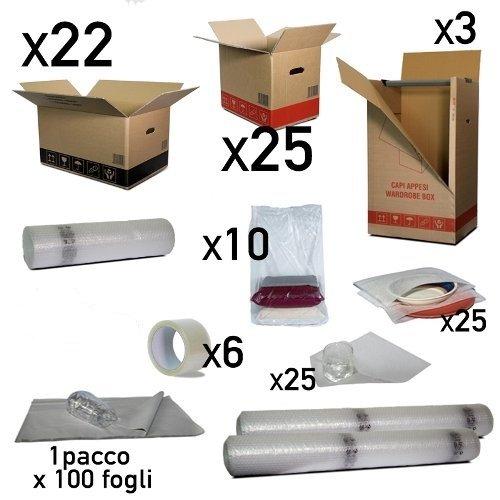 Simba Paper Design Scatole Trasloco Appartamento 120 mq