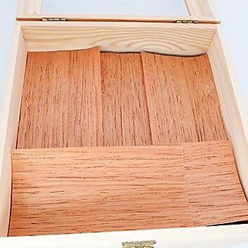 Woho Spanish Cedar Sheets for Cigars Humidor Cedar Wood Veneer Lumber Strip Chip Cigar Accessories for Tray Jar and Box 10 Packs