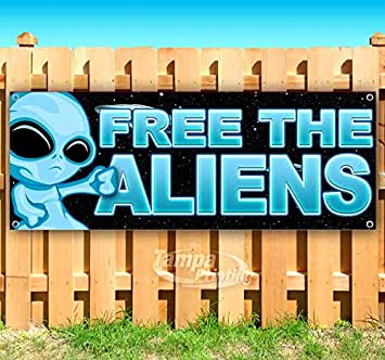 Join The Aliens 13 oz Banner Heavy-Duty Vinyl Single-Sided with Metal Grommets