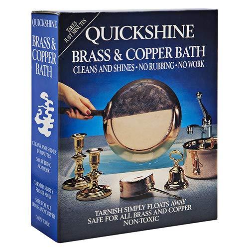 Quickshine Baño de latón y Cobre para Limpiar y Brillar, 4 Sachets