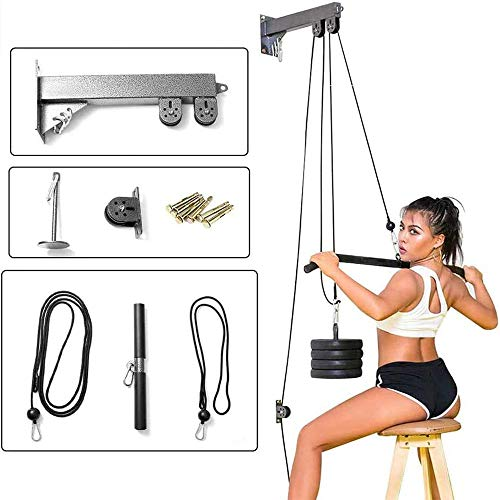 WLYMQFC Nuevo Fitness DIY Polea Cable Máquina Accesorio Tricep Workout Machine Brazo Biceps Triceps Blaster, Fitness Home Gym Workout Equipment Set