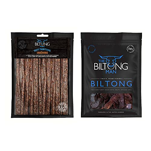 1kg Tasty Traditional Biltong Combo, South African Food, High Protein Snacks, Low Sugar Snacks, Low Calorie Low Fat Snacks Workout Snacks, Delicious Healthy Keto Diet Snacks by The Biltong Man