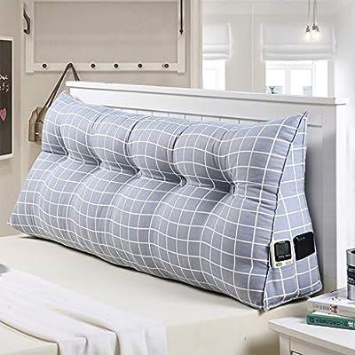 Clasificación de color: A, B, C Tamaño: 120X50X20CM, 150X50X22CM, 200X50X22CM, 180X50X22CM Características: funda de almohada tejida, almohadilla triangular tridimensional, que le permite descansar más cómodamente junto a la cama Forro de tela extraí...