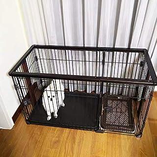 Dog Cage الكلاب قفص بيت الكلب مع مرحاض صغير ومتوسط الحجم كلب داخلي بيت الكلب Dog Crate