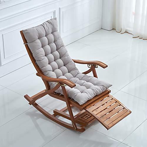SKRCOOL Cuscino Copri Sdraio,reclinabile Non-Cuscino Scivolo,Giardino Posteriore Alto Cuscino Panca,Cotone Morbido E Confortevole Grigio 125 * 50 * 8cm