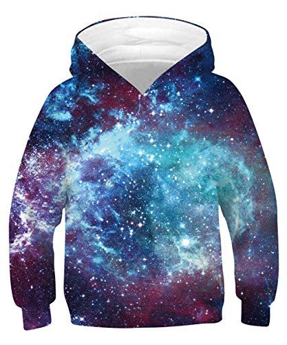 TUONROAD Jungen Mädchen Hässliche Sweatshirt 3D Pullover Kapuzenpullover Hoodies mit Tasche L
