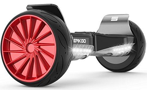 "EPIKGO Sports Plus Balance Board Self Hover Smart Boards w/Speaker Self Balancing Scooter - UL2272 Certified, All-Terrain 8.5"" Wheels, 400W Dual-Motor, LG Smart Battery, Hoover Over Tough Roads"