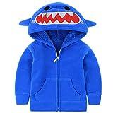 Sudadera Vine con capucha, de forro polar y para niños o niñas de 1 a6años azul azul Talla:18-24 meses