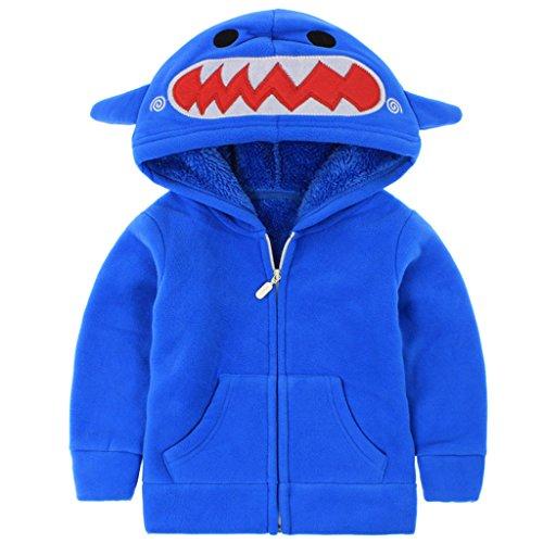 Sudadera Vine con capucha, de forro polar y para niños o niñas de 1 a6años azul azul Talla:24-36 Months
