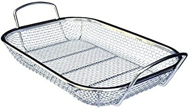 Culina #1 Best Stainless Steel Square BBQ, FDA Approved Vegetable and Grilling Basket