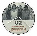 Reloj de vinilo U2, (nuevo), Vinil-Clock U2, agujas de aluminio, disco de vinilo 33 T, Hpb 0039b (plata)
