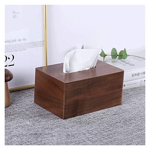 Tissue Holder Box Disegna la scatola del tessuto del tessuto di carta copertura del tessuto di legno, supporto del tovagliolo di casa moderno di stile semplice, per bagno o camera da letto o ufficio C