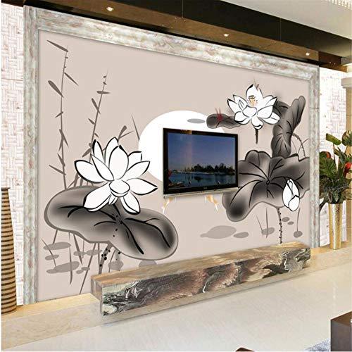 Shuangklei aangepaste behang muurschilderingen foto Amsterdam Lotus inkt behang woonkamer slaapkamer bank tv achtergrond papier van de muur 200x140cm