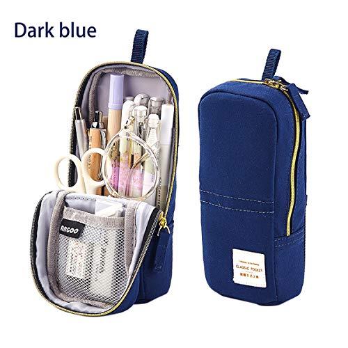 Grigio iSuperb Astuccio Pencil Case Portamonete Gatto Schema Cute Borsa Trucco Portapenne con Cerniera 19 x 12.5 x 7.5 cm