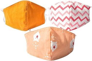 LBK 3pcs Reusable Masks, Reusable Face Bandanas, Washable Face Cotton, dustproof, Anti-Pollen
