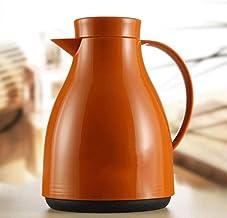 TZSBWH Warm Pot Home 304 Stainless Steel Hot Water Bottle Heat Preservation High Capacity Insulation Pots Kitchen Restaurant Bedroom Warm Pot Kettle Glass Liner B5W0H9 (Color : Orange)