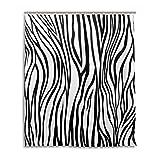 My Daily Einzigartige Schwarz & Weiß Zebra Streifen wasserdicht Badezimmer Decor Polyester Duschvorhang 152,4x 182,9cm