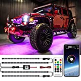 MustWin Car Underglow Neon Accent Lights Dreamcolor Waterproof 2-in-1 Design Exterior Car Strip Lights with APP & RF Control 16 Million Colors Sync to Music DC 12V for Car Jeep Truck SUV Off Road Boat
