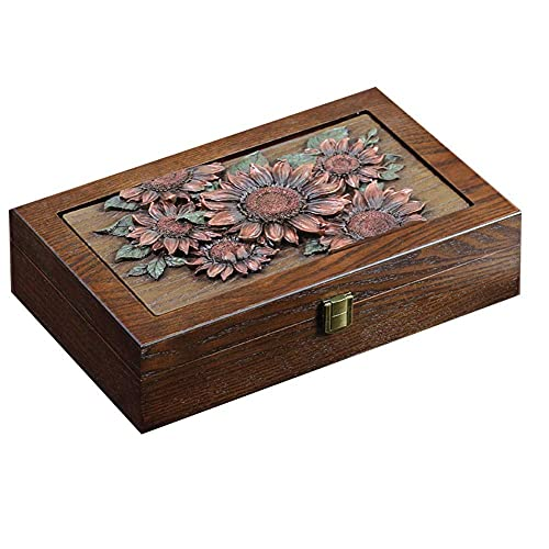 JIANGCJ Bella Caja de joyería Showcase de Madera Creativo Simple Mini Caja de Almacenamiento Multiusos para Anillo Collar Reloj Gafas Gafas Trinket boxb (Color : A)