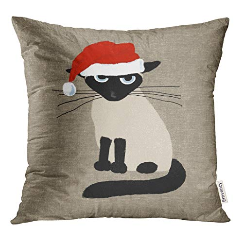 Siamese Cat Pillow Cover
