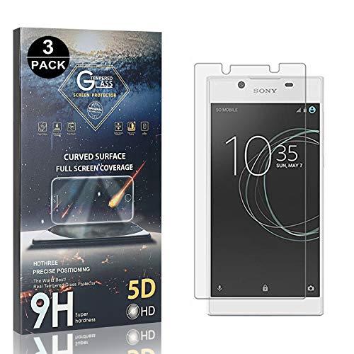 Bear Village® Verre Trempé pour Sony Xperia L1 / E6, Anti Rayures Protection en Verre Trempé Écran pour Sony Xperia L1 / E6, Dureté 9H, Ultra Transparent, 3 Pièces