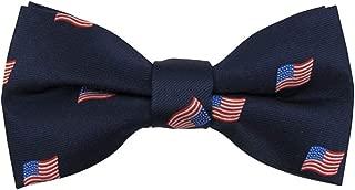 Jacob Alexander Men's Woven American Flags USA Navy Bow Tie