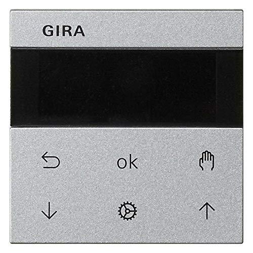 Gira Bedienaufsatz alu 536626 Jalousie+Schaltuhr System 55 Bedienelement intelligent 4010337027454