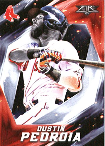 2017 Topps Fire #170 Dustin Pedroia Boston Red Sox Official MLB Baseball Trading Card in Raw (NM or Better) Condition