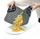 Cecoa - Piastra flessibile per fritte al forno, facile da usare, resistente, non aderente, pratica, ideale per diverse cotture in forno
