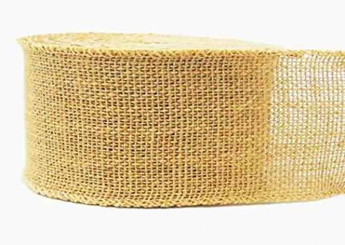 "AAYU Brand Premium Burlap Jute Ribbon 2 1/2"" x 30ft   Burlap Roll 2.5 inch 10 Yards Eco-Friendly, Natural Ribbon Rolls (Natural, 2.5 Inch 10 Yards)"