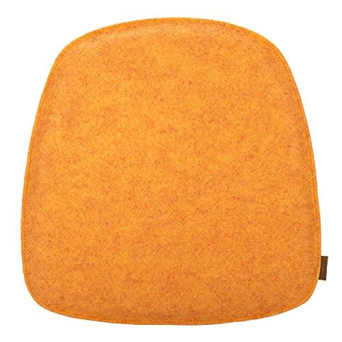 Kontor28 - Sitzkissen Stuhlkissen, 39 x 40 cm. Bequemes Kissen Kvadrat mit bequemer Polsterung - Handgearbeitet in Bayern. Weiches Sitzkissen Stuhl oder Sitzauflage Bank. Farbe Gelb, Orange, Melone