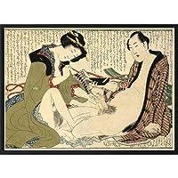 葛飾北斎 春画 ポスター インテリア グッズ 雑貨 美術 アート 絵画