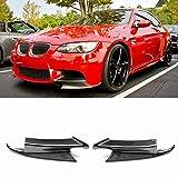Aletas de divisores de Labio de Parachoques Delantero de Fibra de Carbono 2PCS para BMW Serie 3 E92 E90 E93 Real M3 Sedan Coupe Convertible 2007-2013