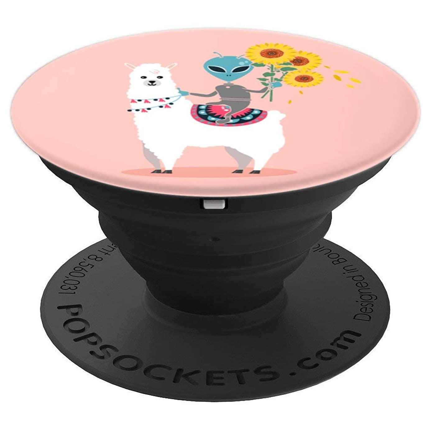 Sunflower Pop-Socket Llama Alien Rose Cool Cute Gift - PopSockets Grip and Stand for Phones and Tablets