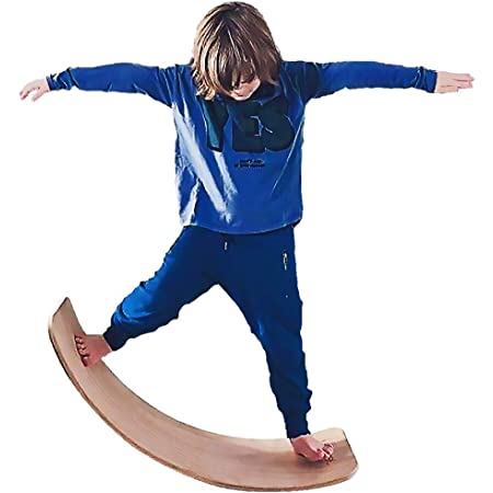 Wobble Balance Board, Wooden Balance Board for Kids, Balance Board Toddler for Baby, Wobble Balance Trainer, Learning Toy Toddler, Yoga Board for Kids.