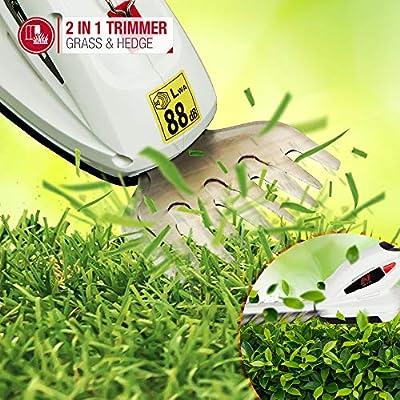 Cordless Netta 7.2V 2 In 1 Grass Shear Shrubs Cutter And Hedge Trimmer Lightw