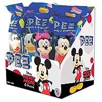 PEZ Candy Disney Mickey&Friends Assortment、キャンディディスペンサー、2ロールのフルーツキャンディの盛り合わせ、12個入りサプライズボックス
