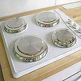 4 placas protectoras para la vitrocerámica, 4 piezas, cubierta de acero inoxidable, cubierta para placas de cocina, placa de protección contra el calor