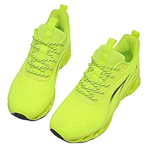 MOSHA BELLE Women Sneakers Casual Ladies Fashion Youth Girls Teen Runners Sport Wedding Business Tennis Shoes Neon Green Size 9.5